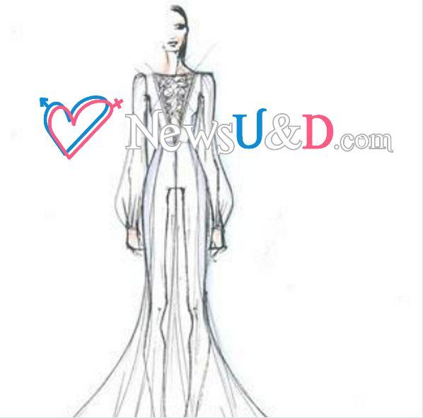 Belen Rodriguez: Ecco il bozzetto del suo vestito da sposa