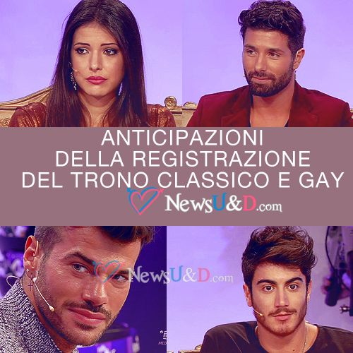 Anticipazioni Trono Classico e Gay registrato il 14-11-2016: Simone eliminato, bacio con Federico! Mario vuole le sedute rosse della scelta!